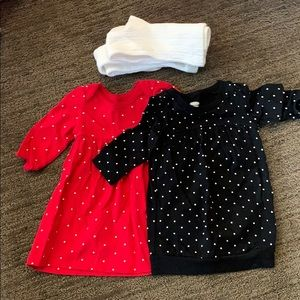 EUC Lot of 2 Old Navy Dresses Size 3/6 months